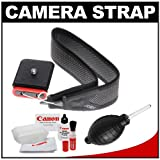 Joby 3-Way Shoulder/Neck/Wrist Camera Strap (Charcoal) with Canon Cleaning Kit for Canon T3, T3i, T4i, EOS 60D, 6D, 7D, 5D Mark II, IDs, 1D, 1DX