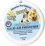 Citrus Magic Pet Odor Absorbing Solid Air Freshener, Pure Linen, 8-Ounce
