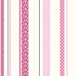 Patterned Stripe Wallpaper-Double Roll