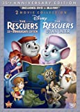 Cover art for  The Rescuers: 35th Anniversary Edition (The Rescuers / The Rescuers Down Under) (Thee-Disc Blu-ray/DVD Combo in DVD Packaging)