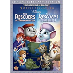 The Rescuers: 35th Anniversary Edition (The Rescuers / The Rescuers Down Under) (Thee-Disc Blu-ray/DVD Combo in DVD Packaging)