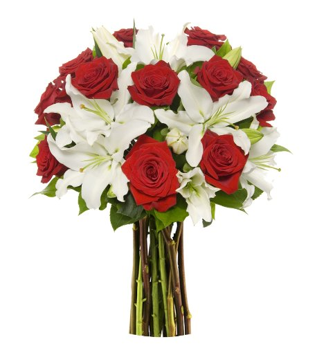 Benchmark Bouquets Roses and Oriental Lilies, No V…