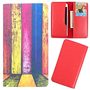 DooDa - For Panasonic P55 PU Leather Designer Fashionable Fancy Case Cover Pouch With Card & Cash Slots & Smooth Inner Velvet