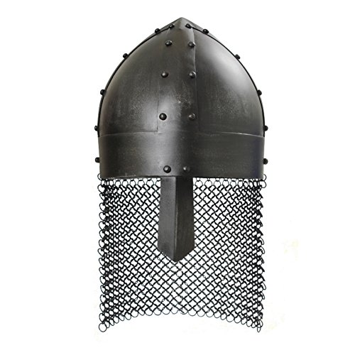 Armor Venue: Viking Spangenhelm Head Armour Helmet Dark Metal Finish One Size