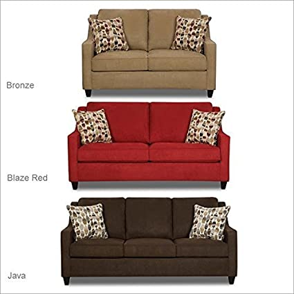 Simmons Upholstery 8950 Twillo Loveseat Java
