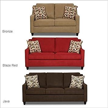 Simmons Upholstery 8950 Twillo Sleeper Sofa in Java Full