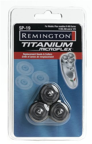 Remington Sp 19 Titanium Microflex Replacement Heads And Cutters For Titanium Microflex Rotary Shavers, Models R-950, R-960 (Packaging May Vary)