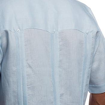 Mens Cuban shirt Guayabera light blue, size xl.