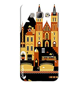 Omnam City Building Printed Designer Back Cover Case For Samsung Galaxy A8
