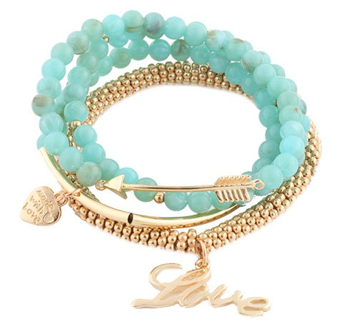 Ladies Gold  Turquoise