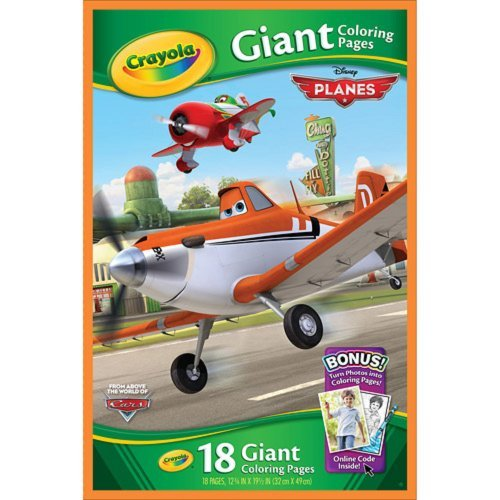 Crayola Giant Coloring Pages Disney Pixar Planes Coloring Book 18 Pages