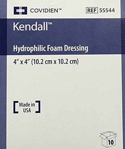 Kendall Copa Hydrophilic Foam Dressing 4x4 Box Of 10