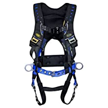 Guardian Fall Protection 193131 Construction Premium Edge Harness with Quick Connect Chest Buckle, Waist Tounge Buckle and Leg Tounge Buckles, M-XLarge