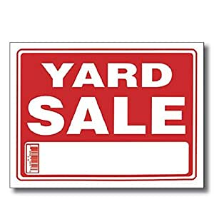 amazon com yard sale sign 12 quot x 16 quot 24pcs business and store signs office products