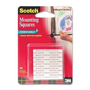 Amazon Com Scotch R Removable Mounting Squares 1 X 1