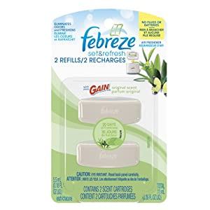 Febreze Set & Refresh Original Scent Of Gain Air Freshener Refill (2 Count; 5.5 Ml Each)