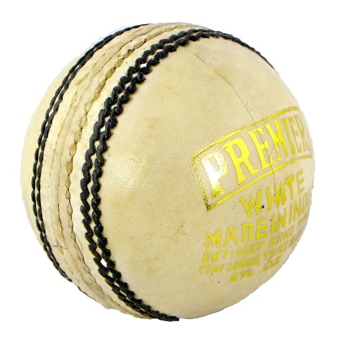 Upfront Qvu Premier White 5.5 oz Cricket Ball - Mens
