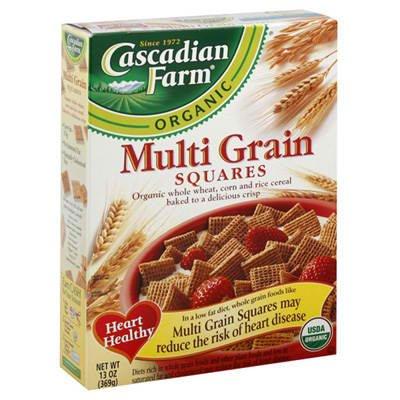 Cascadian Farm BG11283 Cascadian Farm Multi Grain Sqrs - 10x12.3OZ preasy tinkers farm