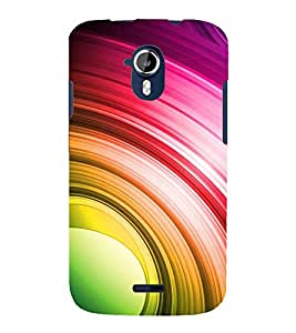 MULTICOLOURED CIRCULAR PATTERN 3D Hard Polycarbonate Designer Back Case Cover for Micromax Canvas Magnus A117