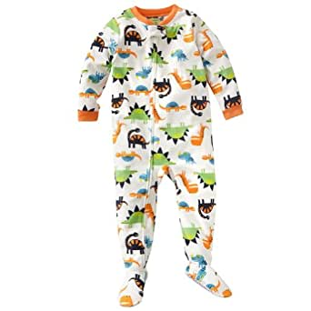 "Carter's Boys 1 Pc Fleece Footed Blanket Sleeper Pajamas ""Dinosaurs"" - 12 Months"