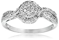 10k White Gold Diamond Promise Ring (1/5 cttw, I-J Color, I2-I3 Clarity)