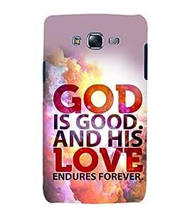 printtech Cool Quotes God Back Case Cover for Samsung Galaxy E7 / Samsung Galaxy E7 E700F