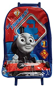 New Official Go Go Thomas The Tank Boys Holdall Travel Holiday Wheeled Trolley School Bag
