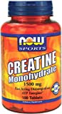 NOW Foods Creatine Monohydrate 1500mg, 100 Tablets