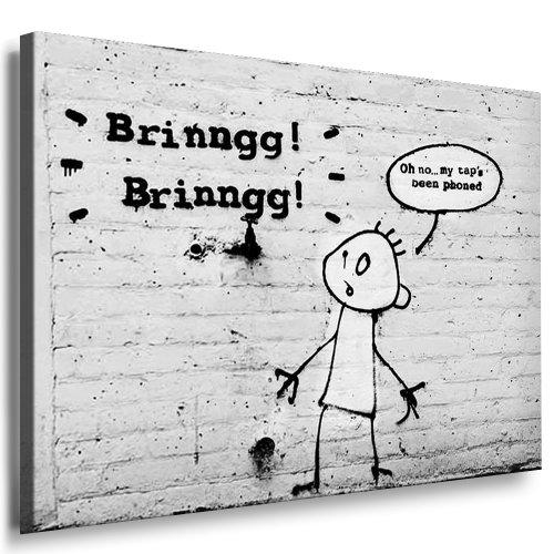 "Banksy Bild - 70x50cm k. Poster ! nr. 661 Bild fertig auf Keilrahmen ! Pop Art Gemälde Kunstdrucke, Wandbilder, Bilder zur Dekoration - Deko / Top 100 ""Banksy"" Modern Bilder"