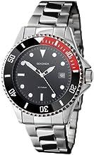 Sekonda 3078,71 - Reloj analógico de cuarzo para hombre, correa de acero inoxidable color plateado