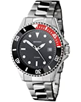 Sekonda Men's Quartz Watch with Black Dial Analogue Display and Silver Stainless Steel Bracelet 3078.71