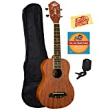 Oscar Schmidt OU2 Concert Ukulele Bundle with Gearlux Gig Bag, Austin Bazaar Instructional DVD, Clip-On Tuner, and Austin Bazaar Polishing Cloth - Mahogany