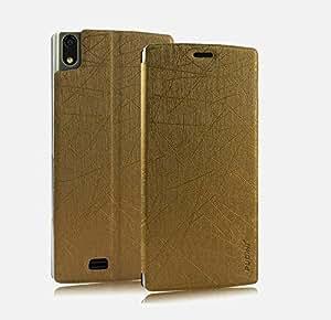 Pudini® Yusi Rain Series Leather Flip Cover Case for Gionee Elife S5.5 - Champaign Gold