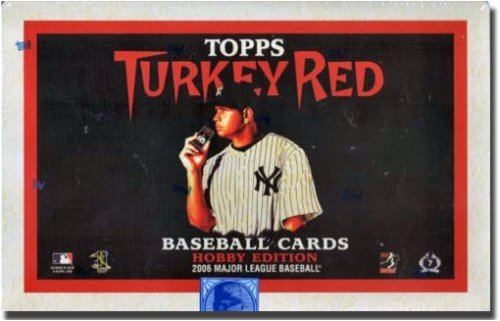 2006 Topps Turkey Red Baseball Cards Sealed Hobby Box (24 packs/box, 8 cards per pack, 2 Autographs or Memorabilia Cards Per Box & 1 Parallel Card in Every Pack!)