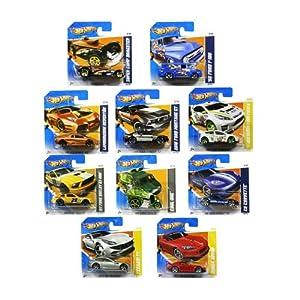 Set of ten random Hot Wheels cars