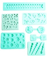 7 x Silicone Icing Mould Mold Flower Decorative Fondant Sugarpaste Cake Toppers by Kurtzy TM