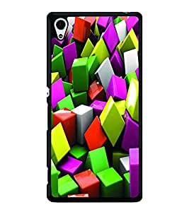 PRINTSWAG COLORFUL CUBES Designer Back Cover Case for SONY XPERIA Z4