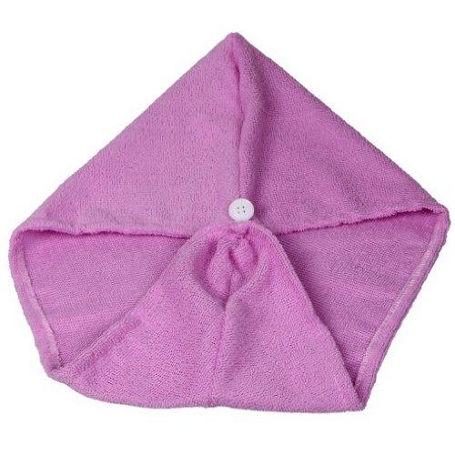 EOZY Serviette à Cheveux Bonnet Douche en Micro Fibre Doux 60*20 CM Violet