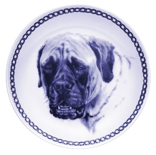Mastiff Lekven Design Dog Plate 19.5 cm /7.61 inches Made in Denmark NEW with certificate of origin PLATE #7534