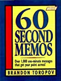 60 Second Memos (0134726480) by Toropov, Brandon