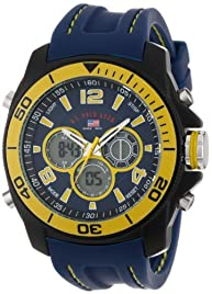U.S. Polo Assn. Sport Men's US9322  Sport Watch with Navy Rubber Band