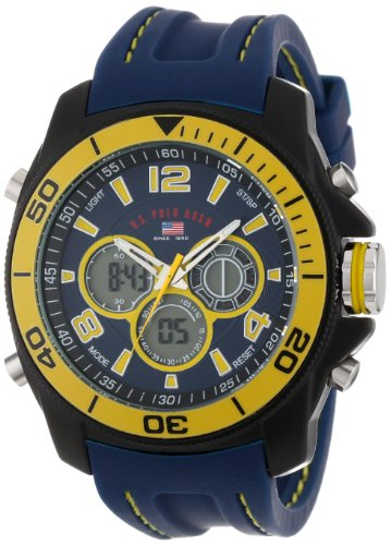 U.S. Polo Assn. Sport Men's US9322  Sport Watch with Navy Rubber Band Picture