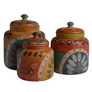 amazon com italian dinnerware canister set handmade