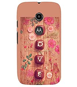 PRINTSWAG LOVE Designer Back Cover Case for MOTOROLA MOTO E2