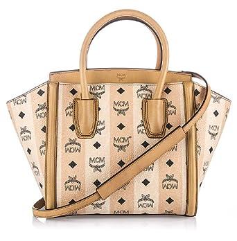 mcm damen handtasche visetos tote small beige bekleidung. Black Bedroom Furniture Sets. Home Design Ideas