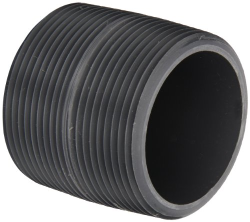 """Spears 88 Series Pvc Pipe Fitting, Close Nipple, Schedule 80, Gray, 1/2"""" Npt Male, 1-1/8"""" Length"""