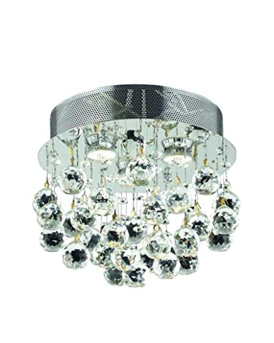 Crystal Lighting Galaxy Collection 12 Flush Mount, Chrome