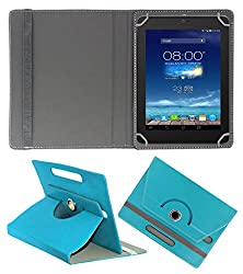ACM ROTATING 360° LEATHER FLIP CASE FOR DIGIFLIP PRO XT801 TABLET STAND COVER HOLDER GREENISH BLUE