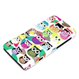 DeinPhone Small Coloured Owls Hardcase Cover Bumper for Motorola Razr I - White