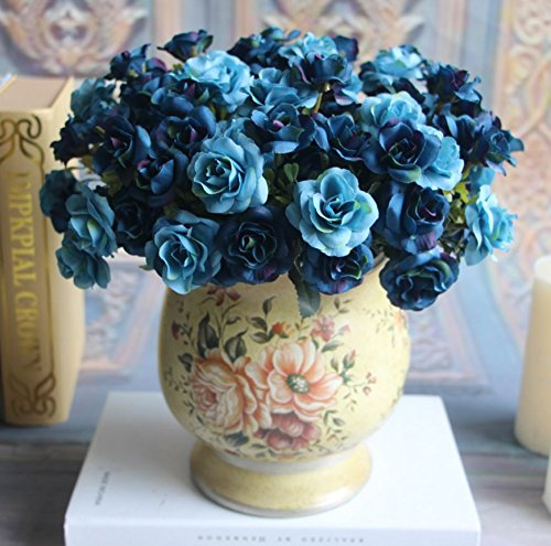 Bouquet High Quality Fake Artificial Silk Rose Flower Wreaths Home Party Wedding Decor